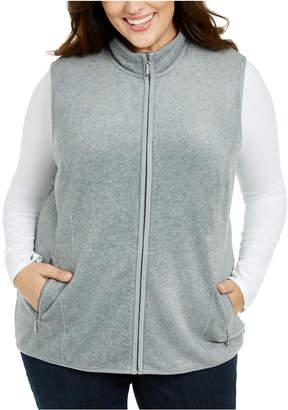 Karen Scott Plus Size Zip-Front Vest