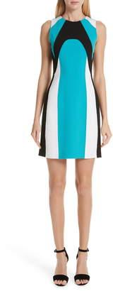 Michael Kors Scuba Colorblock Stretch Wool Boucle Sheath Dress