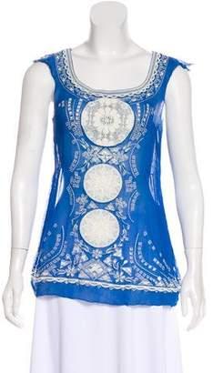 Calypso Silk Sleeveless blouse