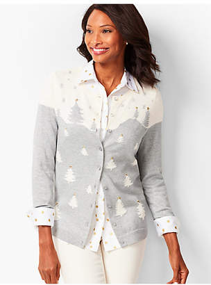Talbots Charming Cardigan - Wintery Forest