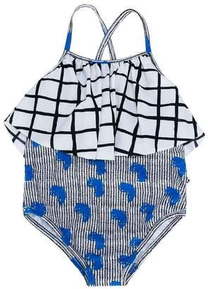 Noë & Zoe contrast pattern swimsuit