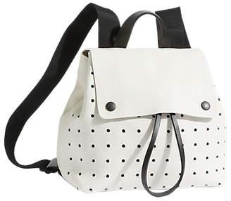 Jigsaw Blake Perforated Zip Backpack, White