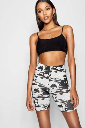 boohoo Tall Camo Print Cycling Shorts
