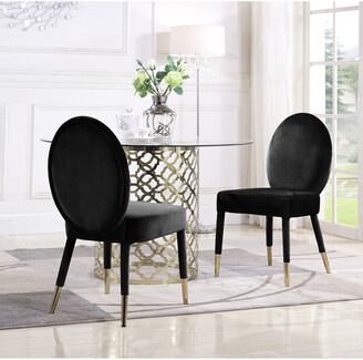 Chic Home Set Of 2 Leverett Black Dining Chairs