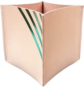 Hirsch & Kirsch - Green Stripe Large Pot Holder / Desk Tidy
