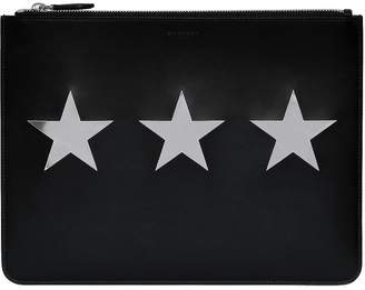 Givenchy Metallic Stars Leather Pouch
