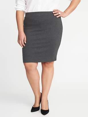 Old Navy Smooth & Slim Ponte-Knit Plus-Size Pencil Skirt