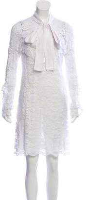 Francesco Scognamiglio Lace Knee-Length Dress w/ Tags