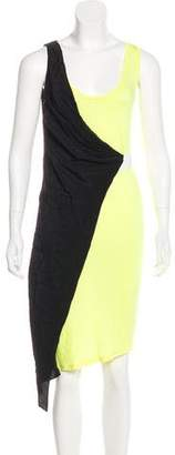 Kimberly Ovitz Silk-Paneled Colorblock Dress w/ Tags