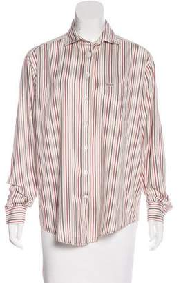 Façonnable Striped Button-Up Top