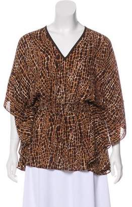 Michael Kors Silk Printed Kaftan w/ Tags