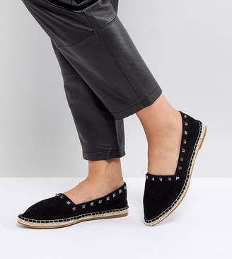 Asos Design JISELLE Wide Fit Point Studded Espadrilles