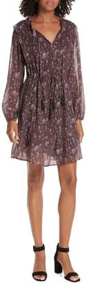Dolan Ruffled Drawstring Waist Dress