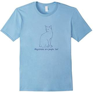 Breed Abyssinians Are People Too! | Cat Owner Love T-shirt