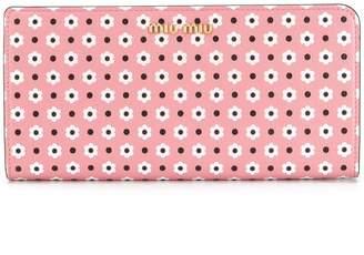 Miu Miu Daisy print continental wallet