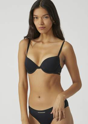 Emporio Armani Seamless Stretch Microfibre Push-Up Bra