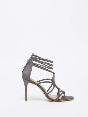Halston Brielle Suede Lace Up High Heel Sandal