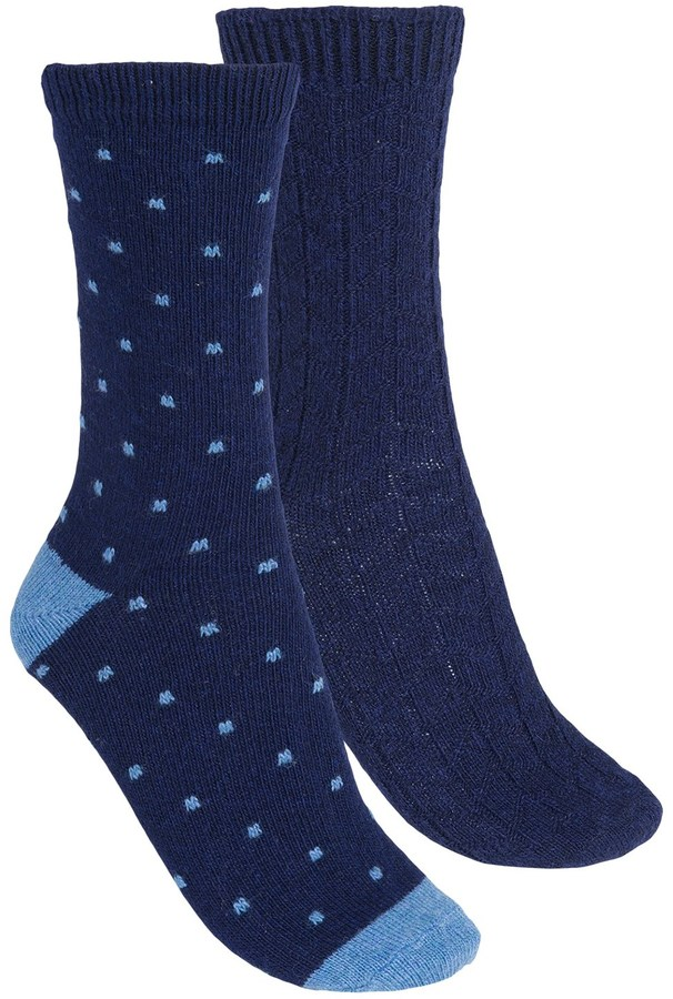 B.ella Dot and Fair Isle Socks - 2-Pack (For Women)