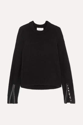 3.1 Phillip Lim Embellished Knitted Sweater - Black