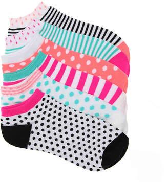 Mix No. 6 Dot Stripe No Show Socks - 6 Pack - Women's