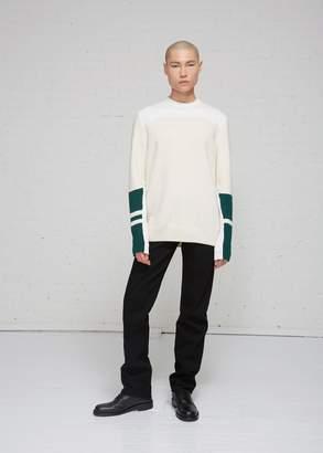 Calvin Klein Cut Out Crew Neck Knit