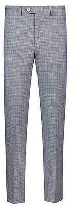 HUGO BOSS Tapered-fit trousers with three-coloured check