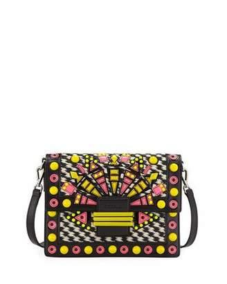 Etro Raffia Embellished Shoulder Bag