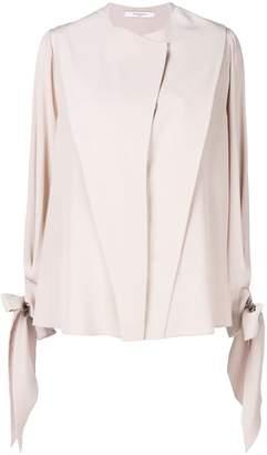 Givenchy ribbon-tied draped blouse