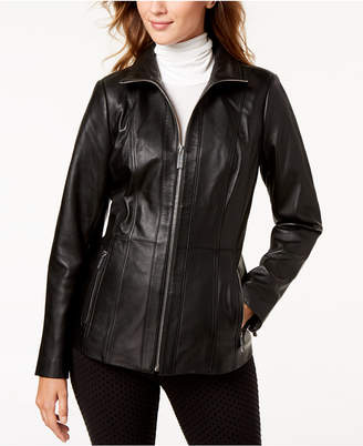 Michael Kors Leather Scuba Jacket