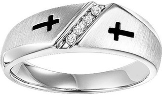 Silver Cross Forever Bride 1/20 Carat T.W. Diamond Sterling Band