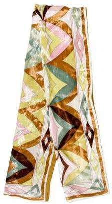 Emilio Pucci Abstract Printed Scarf w/ Tags