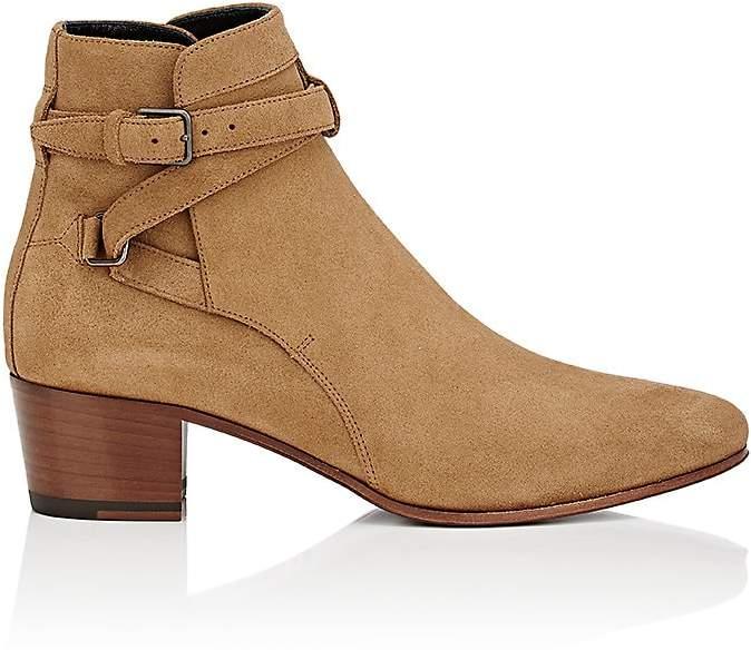 Saint Laurent Women's Blake Suede Ankle Boots
