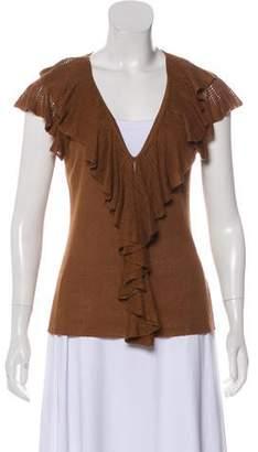 Ralph Lauren Black Label Linen Short Sleeve Top