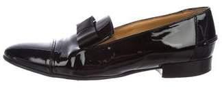 Lanvin Patent Leather Cap-Toe Loafers