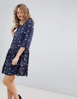 Ichi Printed Smock Dress
