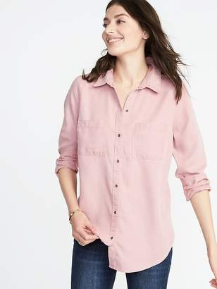 Old Navy Relaxed Tencel® Utility Shirt for Women