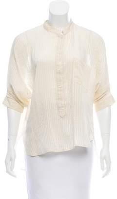 Comptoir des Cotonniers Short Sleeve High-Low Top