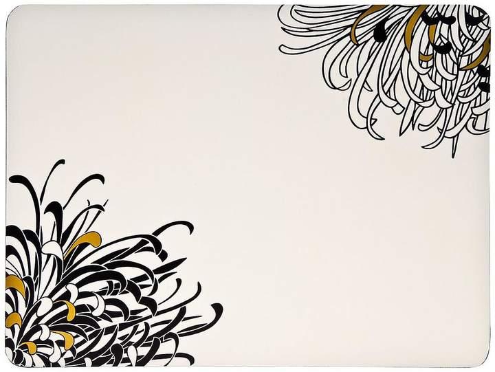 Monsoon Chrysanthemum Set Of 4 Placemats – Cream