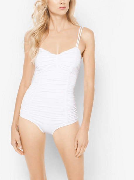 Michael Kors Ruched Maillot