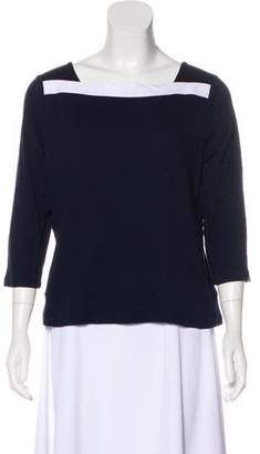 Lauren Ralph Lauren Square Neck Long Sleeve Top