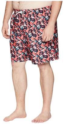 Nautica Big Tall Abstract Floral Print Swim Trunk Men's Swimwear
