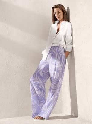 Michael Kors Palm Linen Trousers