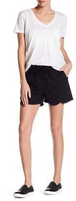 Susina Linen Blend Tulip Hem Shorts (Petite Available)