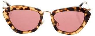 Miu Miu Tortoiseshell Square Sunglasses