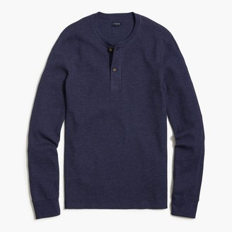 J.Crew Thermal heathered henley sweatshirt