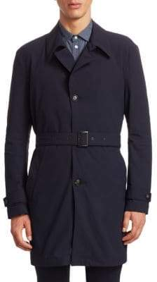Armani Collezioni Stretch Trench Coat