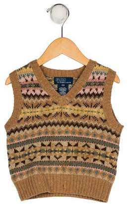 Polo Ralph Lauren Boys' Patterned Knit Vest