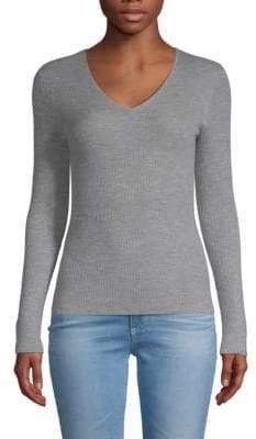 Saks Fifth Avenue Cashmere V-Neck Pullover