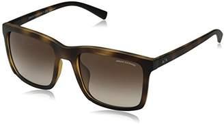 Armani Exchange Men's Injected Man Square Sunglasses