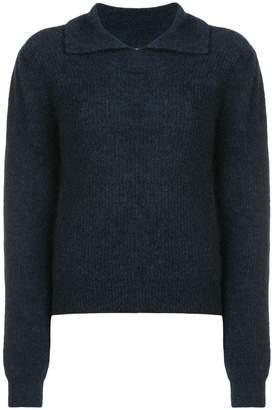 Ganni collared sweater